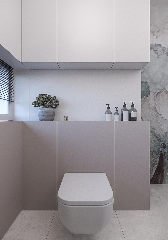 17 projektant wnetrz 482 mieszkanie krakow lazienka wodoodporna tapeta w lazience miska wc ciekawa zabudowa w lazience