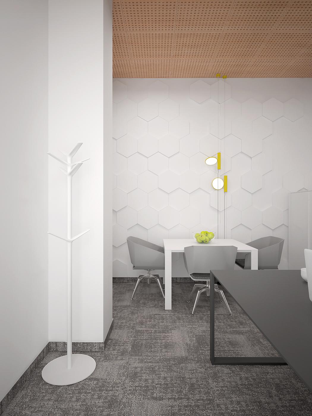 6 aranzacja biura 485 biuro krakow gabinet miejsce spotkan stolik kawowy panele nascienne 3d szara wykladzina